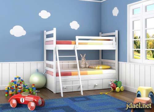 غرف نوم اطفال بالوان وديكور الاولاد والبنات بافكار وتصاميم روعة