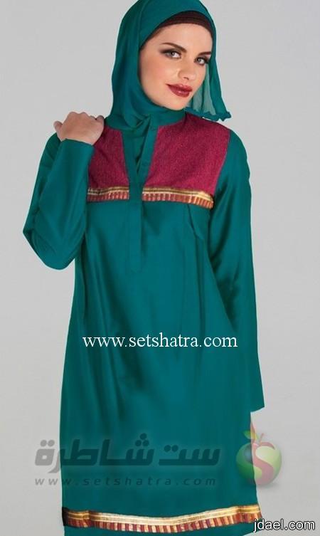 ملابس الحجاب واشكال للفة الطرحه