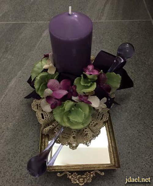 تزيين صناديق وفوانيس زجاج البنور بروايز شموع بالكروشيه والورد