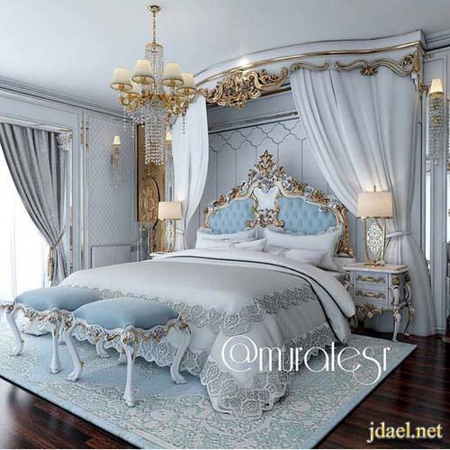 ديكورات غرف نوم فخمة جدا تصميم كلاسيك عصري