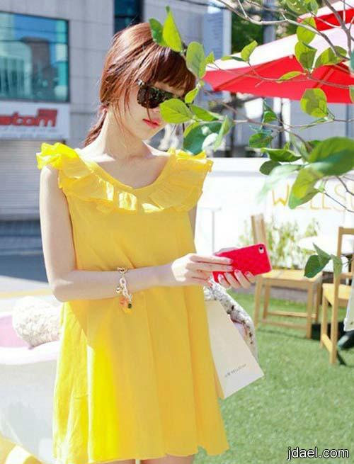 فساتين فسفوريه موديلات ملابس صيف 2013 ازياء بالوان الربيع