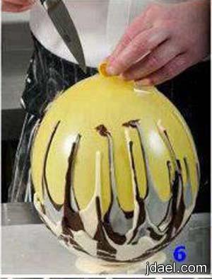 اعمال يدويه خطوات عمل طبق الشكولاته باستخدام البالون خيال بالصور