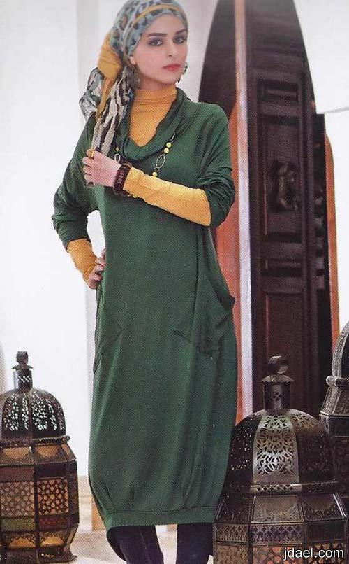 ازياء حجاب للمحجبات وموديلات بلايز وفساتين ولفات حجاب باجمل اكسسوار