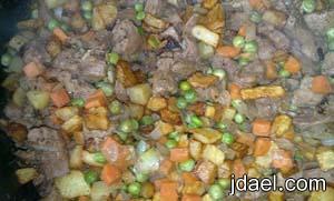 طبخ البرياني باللحم والخضار من المطبخ العراقي