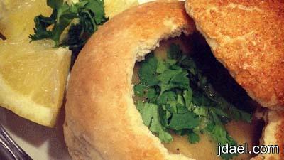 الخبز الخاص للشوربه باسهل تحضير في البيت