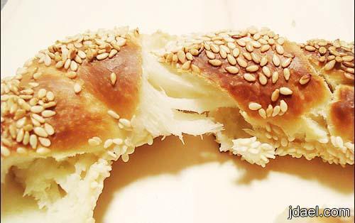 طريقة عمل الخبز التركي خطوات الكعك التركي بالسمسم