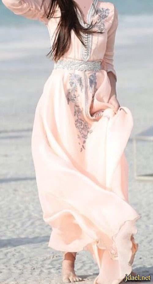 قفاطين مغربية للسهرة القفطان المغربي مطرز وسادة فخم للبنات