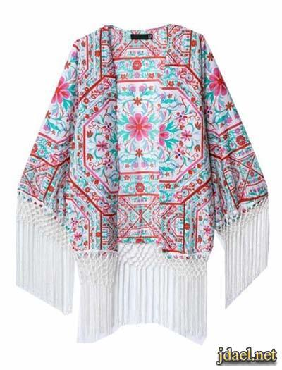 استايلات كارديجان شيفون وكتان بموديلات كتل خيوط الحرير