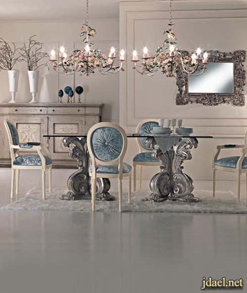 اثاث منازل باللون الفضي ديكور مداخل وغرف طعام وغرفة النوم