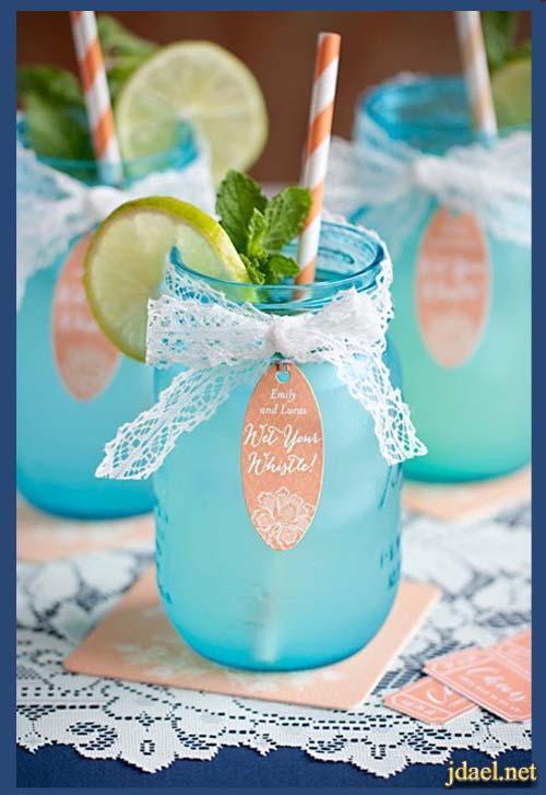 افكار عصريه في تزيين المشروبات والعصير بطرق مبتكره بالصور