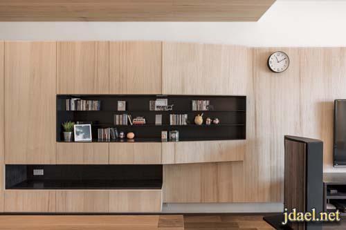 ديكور روعه للشقق الراقيه من الخشب الطبيعي بتصميم عصري