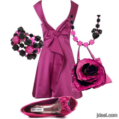 اروع الملابس النسائيه لصيف 2013 كولكشن بالوان الورد