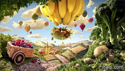 صور قمة الابداع بالسكاكير والشكولاته والمواد الغذائيه للفنان كارل وارنر