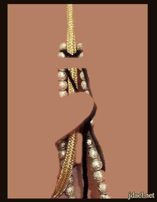 طريقة خياطة وتطريز حزام القفطان المغربي للبنات بالصور