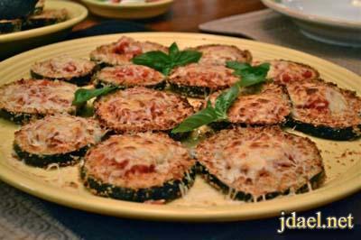 طريقة عمل بيتزا شرائح الباذنجان المقلي بزيت الزيتون