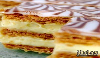 حلويات روسيه كيك نابليون المطبخ الروسي كيكة طبقات محشيه كاسترد